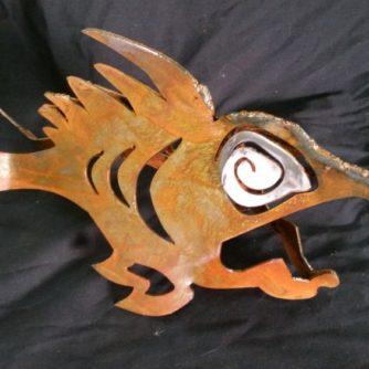 Land Shark metal sculpture