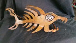 BoneFish Steel Sculpture