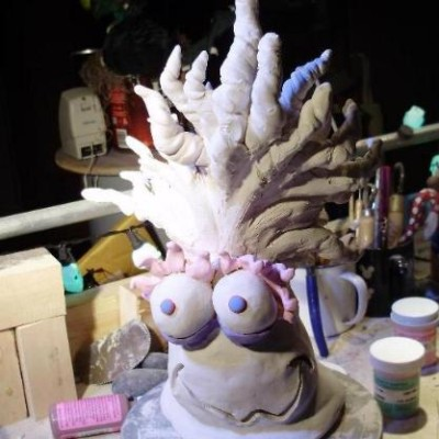 Creature: Side Two Earthenware with underglazes
