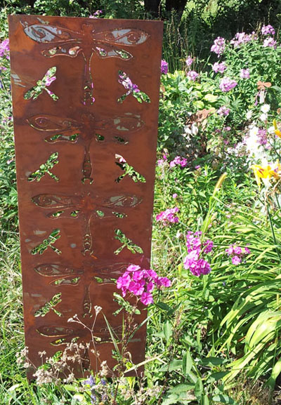 Large Dragonfly Garden Panel