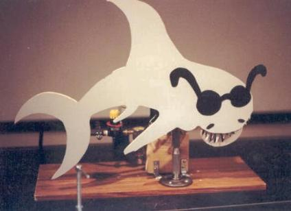 Pneumatic shark (Dallas Science Museum)