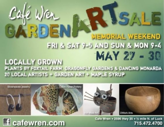 Cafe Wren Garden Art Sale – 2016