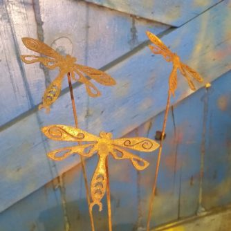 Mini Single Wing Dragonfly on a Stick