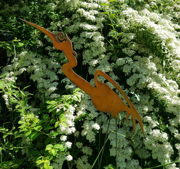 Garden Herons Head Up