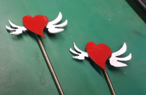 Two Flying Heart Sticks