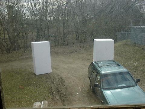 Blocks of foam.